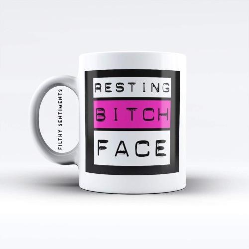 Resting bitch face mug - M036RBF