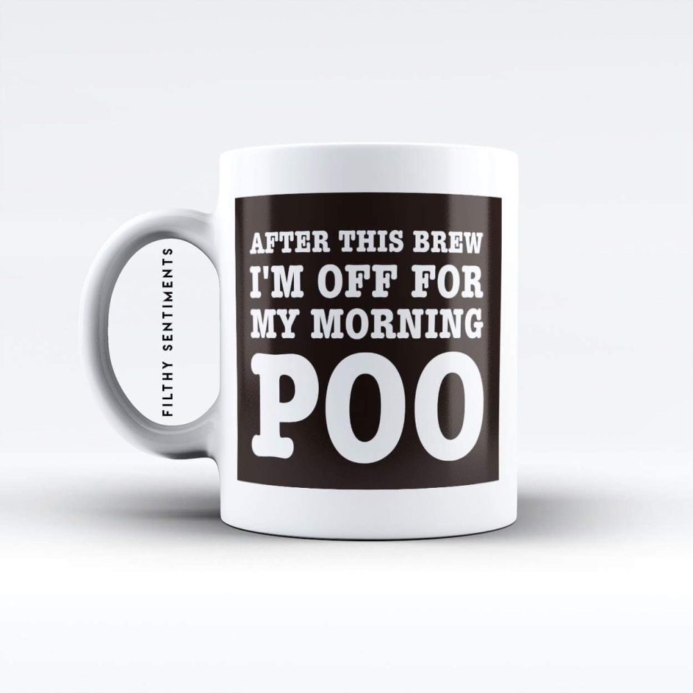 Morning Poo Brew mug - M025POOBREW