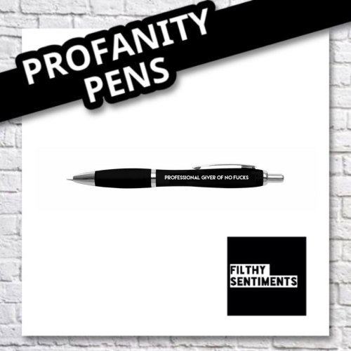 PROFESSIONAL GIVER OF NO FUCKS PEN