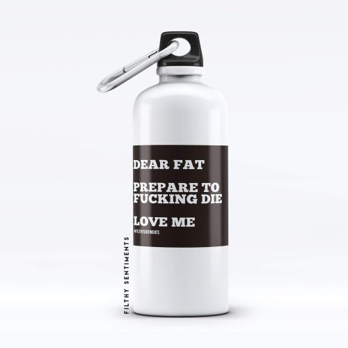 Water bottle DEAR FAT - WB502FAT