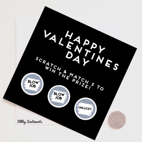 Valentines day Blowjob scratch card (old stock)