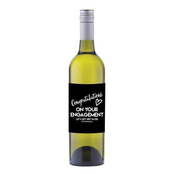 Engagement Wine label sticker - WL017