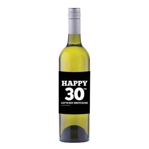 Happy 30th Wine label sticker - WL013