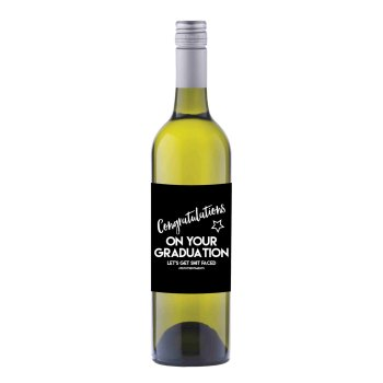 Happy Graduation Wine label sticker - WL016 - F00026