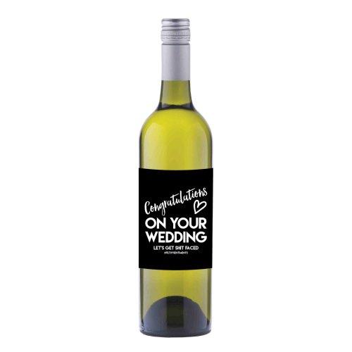 Wedding Wine label sticker - WL018