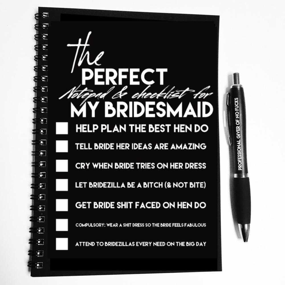 Wiro Notebook - Bridesmaid checklist (pre order)