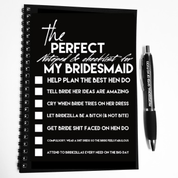 A Wiro Notebook - Bridesmaid checklist (pre order)