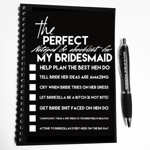 Wiro Notebook - Bridesmaid checklist (pre order)