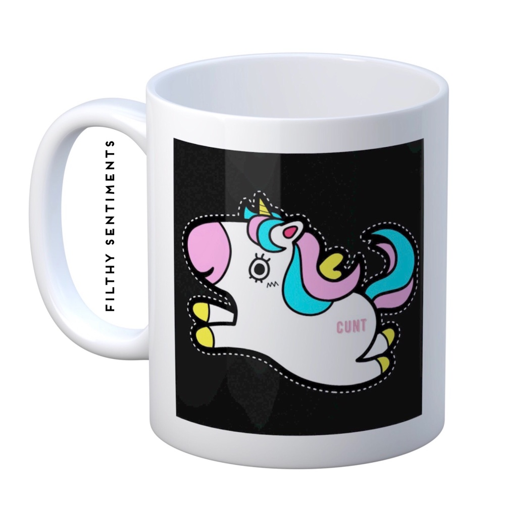 Unicorn hidden cunt mug - M066