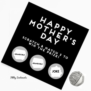 Mothers day grandchild JOKE scratch card  - FS151/GRU