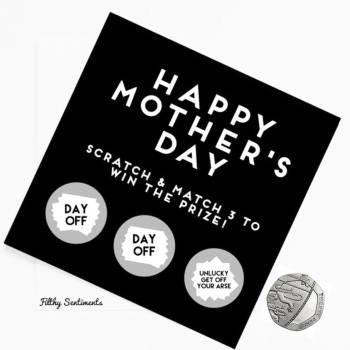 Mothers day Mum scratch card  FS148 - H0020