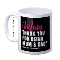 Mum he is a useless twat mug - M072