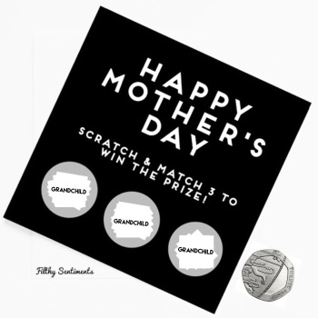 Mothers day grandchild MATCHING scratch card  - FS152 - H0001
