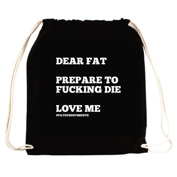 Dear Fat Drawstring Bag