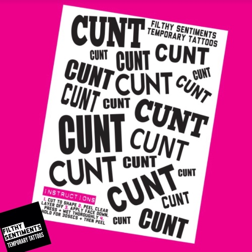 TEMPORARY TATTOOS - CUNT