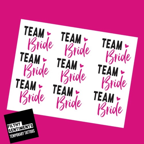 TEMPORARY TATTOOS - TEAM BRIDE