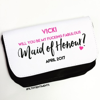 Will you be my MAID OF HONOUR? Make up bag