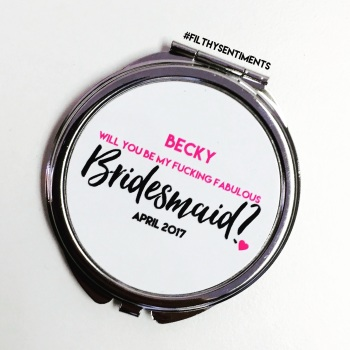 Will you be my bridesmaid POCKET MIRROR