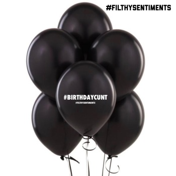 #BIRTHDAYCUNT BALLOONS (Pack of 5)