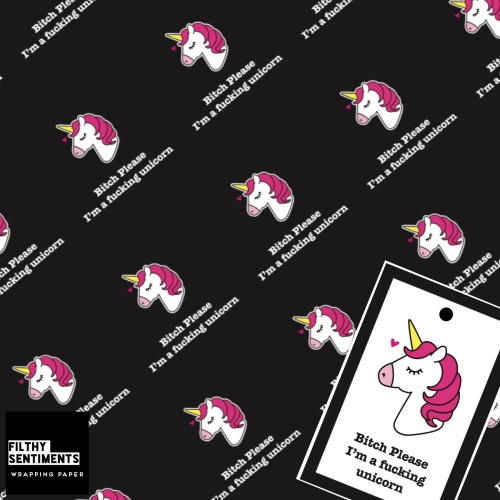 UNICORN wrapping paper & gift tags - Pack of 2