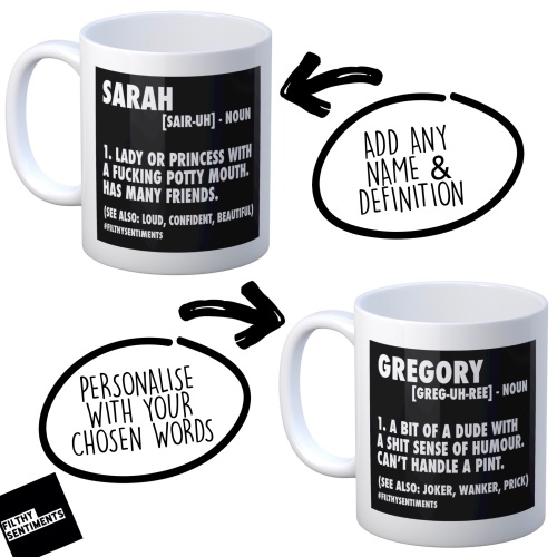 A Personalised NOUN mug - ANY NAME