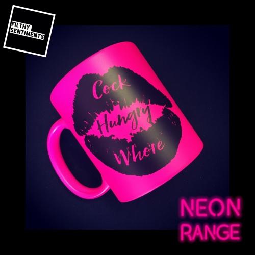 NEON COCK HUNGRY WHORE - PINK MUG