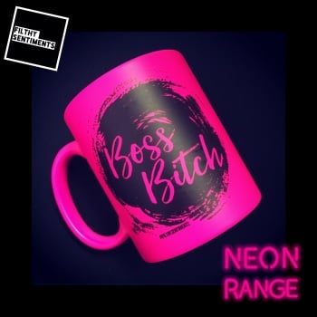 NEON BOSS BITCH- PINK MUG