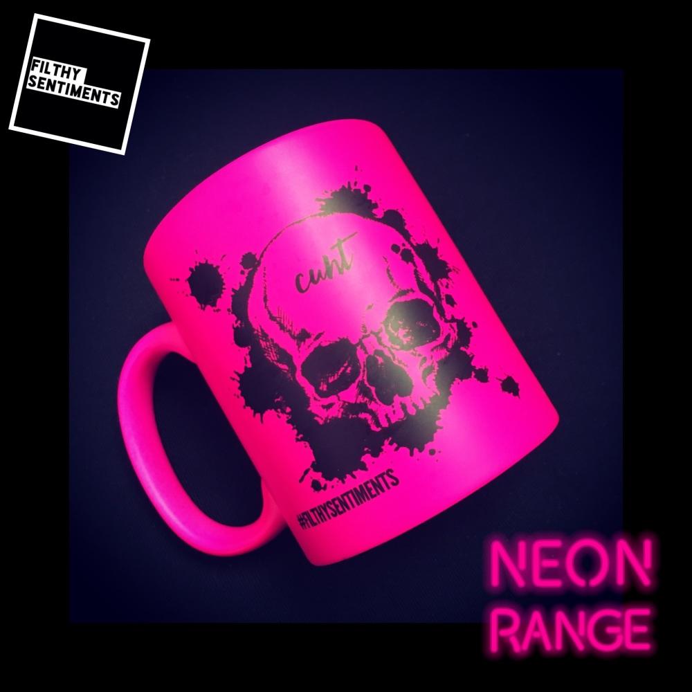 NEON SKULL - PINK MUG