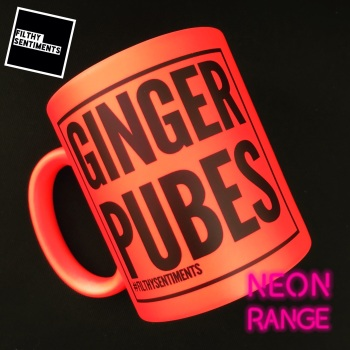 NEON GINGER PUBES M101 - ORANGE MUG