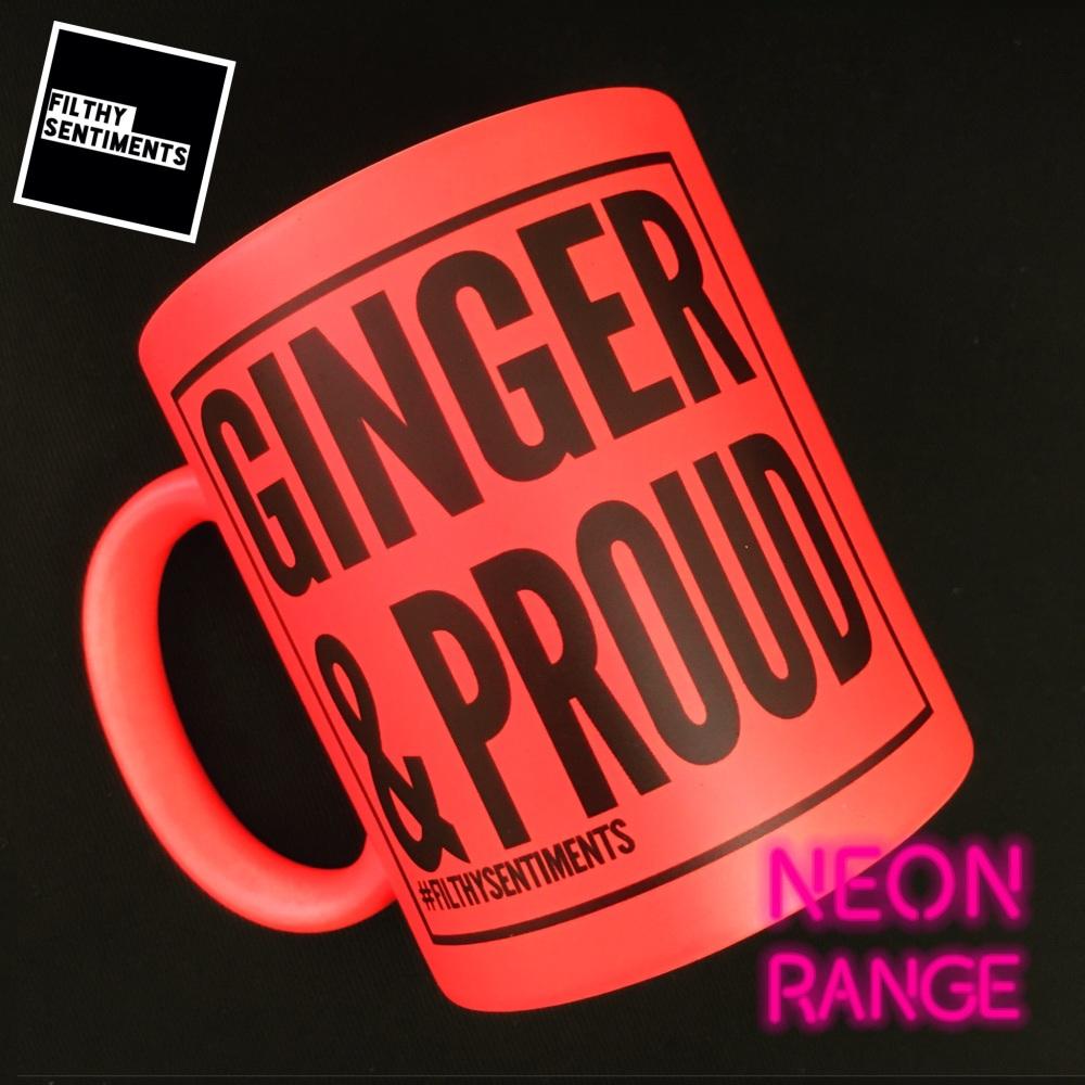 NEON GINGER & PROUD M102 - ORANGE MUG