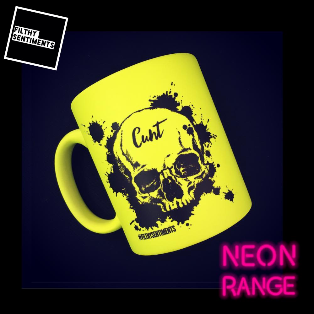 NEON SKULL - YELLOW MUG