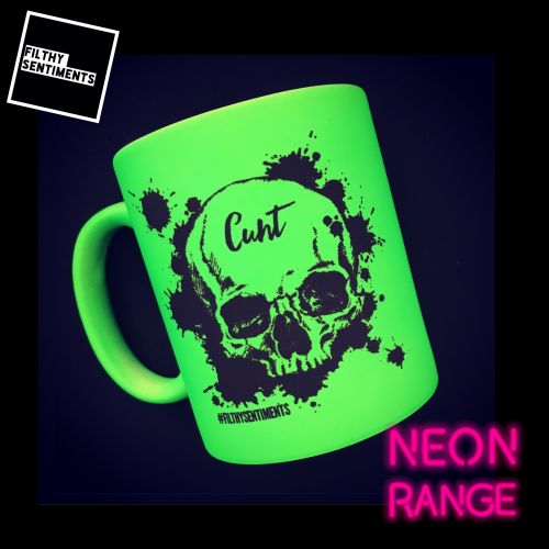 NEON SKULL - GREEN MUG