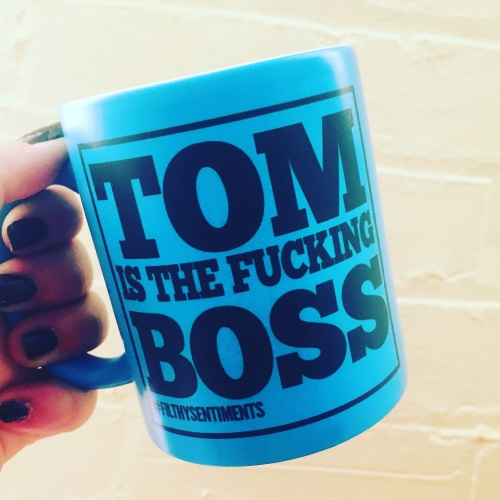 *NEW* PERSONALISED BOSS COLOURED MUG 113