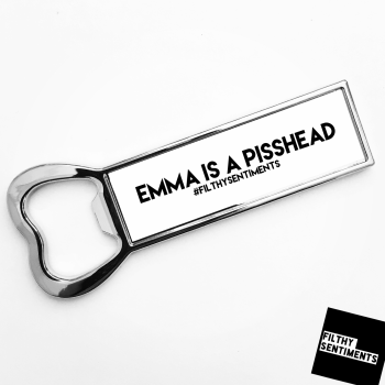*NEW*  PERSONALISED PISSHEAD BOTTLE OPENER FRIDGE MAGNET