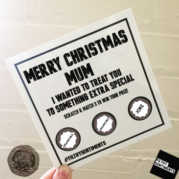 *NEW* PERSONALISED XMAS SCRATCH CARD PER22