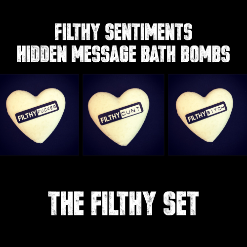 Pack of 3 FILTHY BATH BOMBS