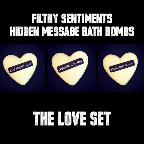 Pack of 3 LOVE BATH BOMBS