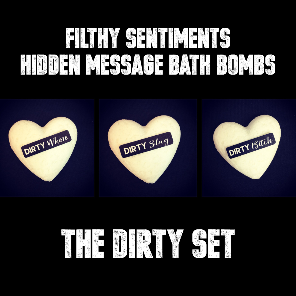 Pack of 3 DIRTY SET  BATH BOMBS - 09-10-11
