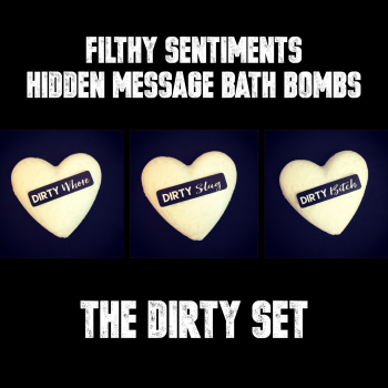 Pack of 3 DIRTY SET  BATH BOMBS - E00019