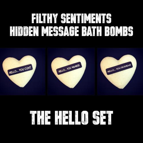 Pack of 3 HELLO BATH BOMBS - 01-02-03