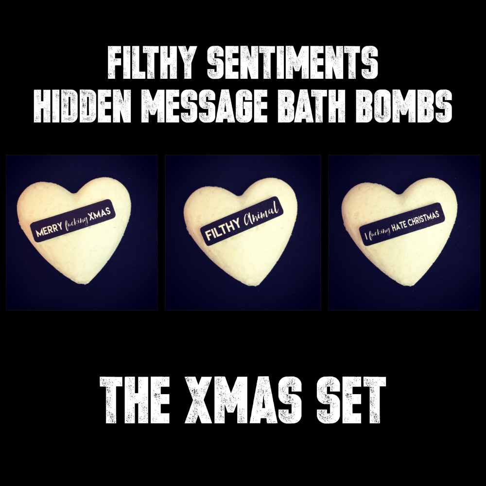 Pack of 3 XMAS BATH BOMBS - 22-23-24