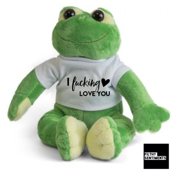 Cute FROG Teddy Bear - I LOVE YOU STANDARD