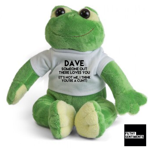 Cute FROG Teddy Bear with CUNT message