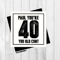 PERSONALISED 40 CARD - PER23