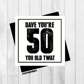 *NEW* PERSONALISED 50 CARD - PER30