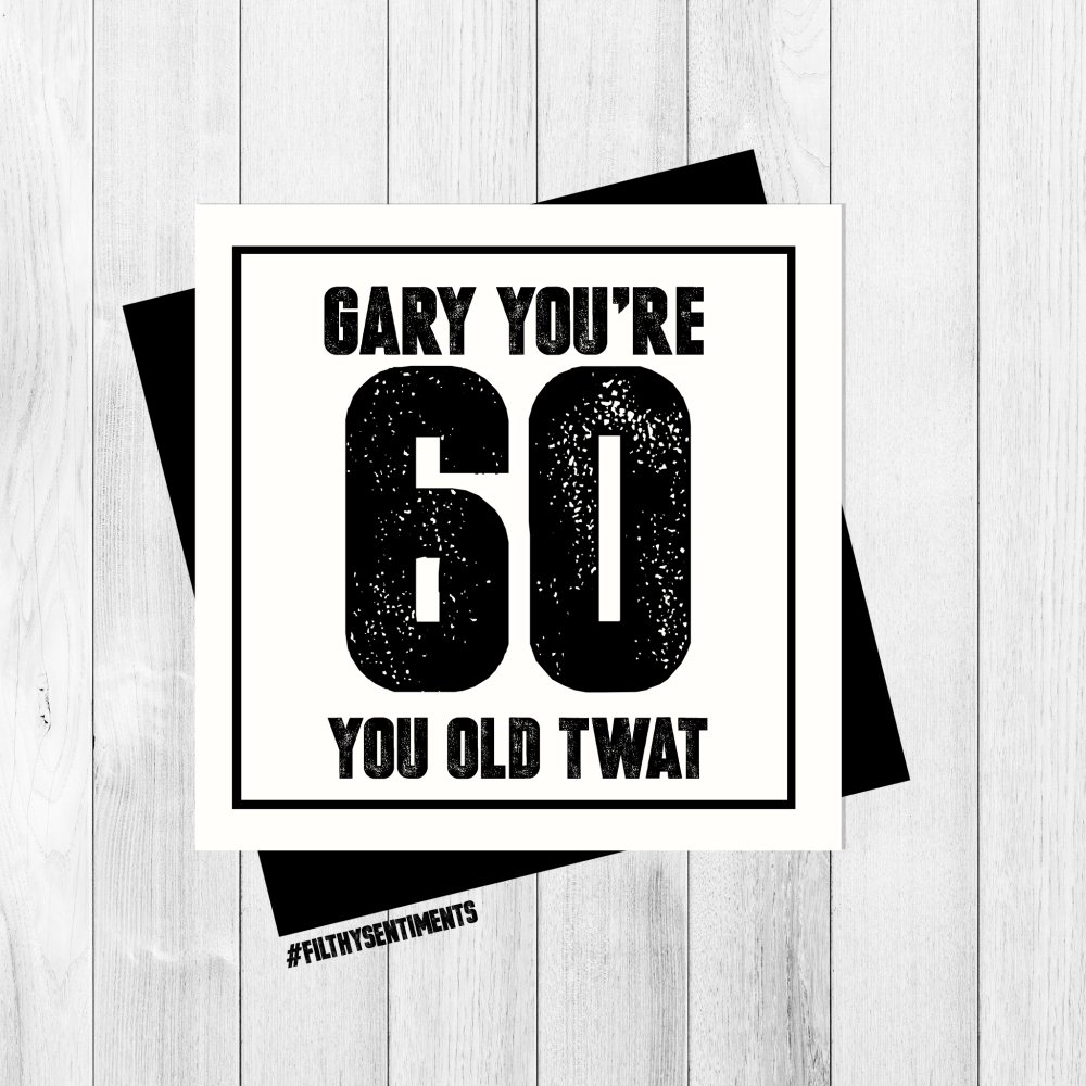 *NEW* PERSONALISED 60 CARD - PER29