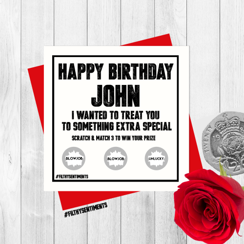*NEW* PERSONALISED BIRTHDAY SCRATCH CARD PER20