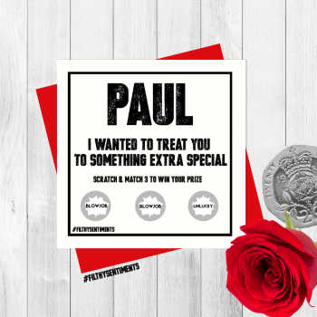 *NEW* PERSONALISED GENERIC SCRATCH CARD PER31