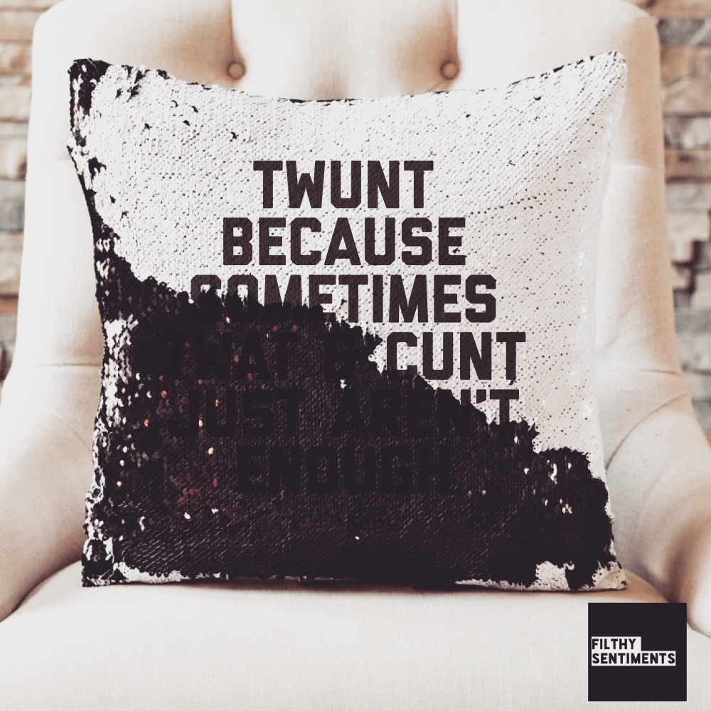 TWUNT SEQUIN CUSHION