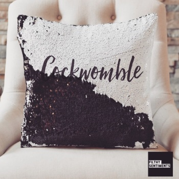 COCKWOMBLE ❤️ MERMAID SEQUIN CUSHION